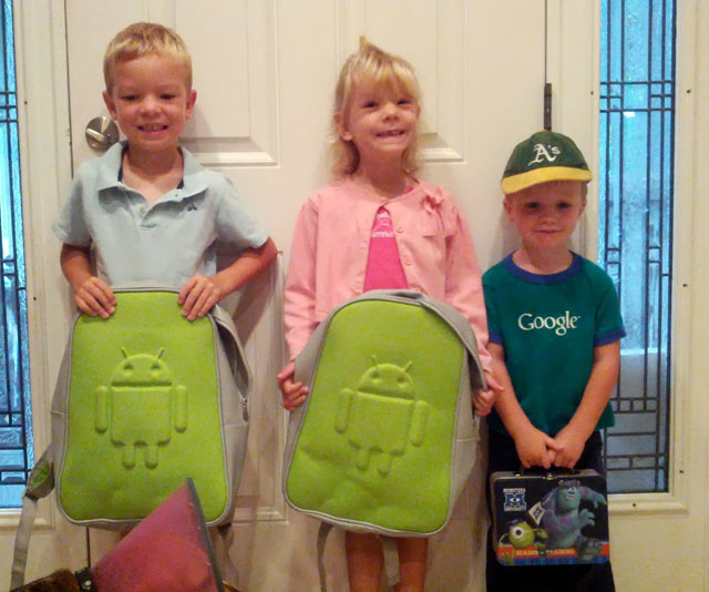 Android Backpacks For Louis Gray's Kids