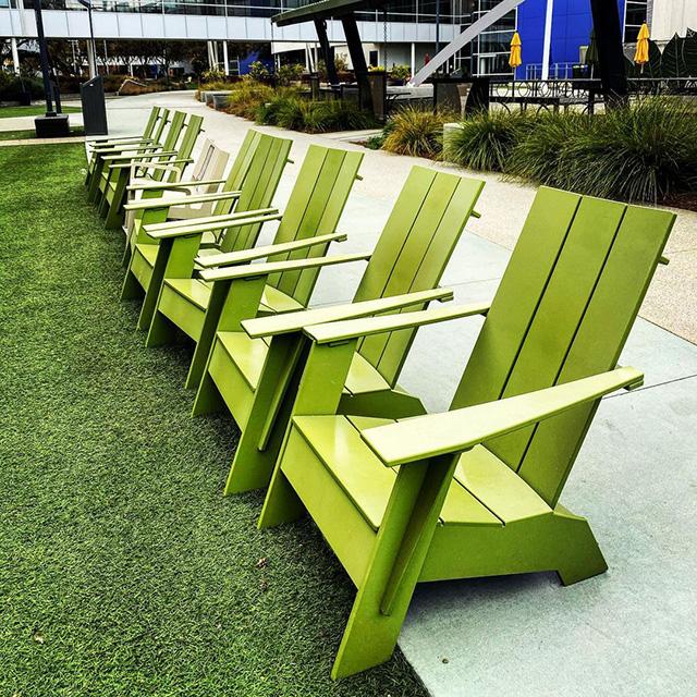 Green Google Chairs