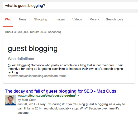Google Guest Blogging Defined