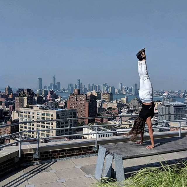 Handstand On Google NYC Rooftop