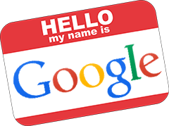 how to create my name in google