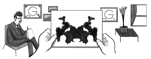 Google Inkblot Test Doodle: Hermann Rorschach