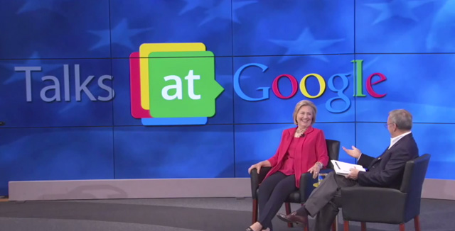 Hillary Clinton Interviewed By Google's Eric Schmidt
