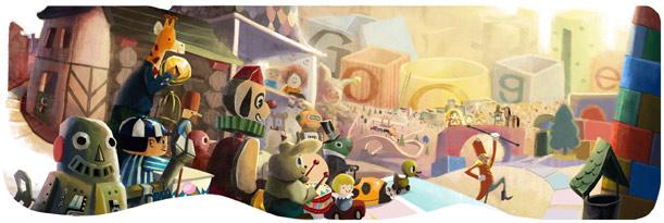 Google's Happy Holidays Logo - Christmas