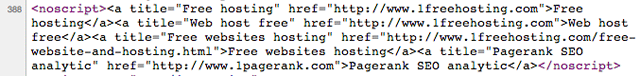 host hidden links