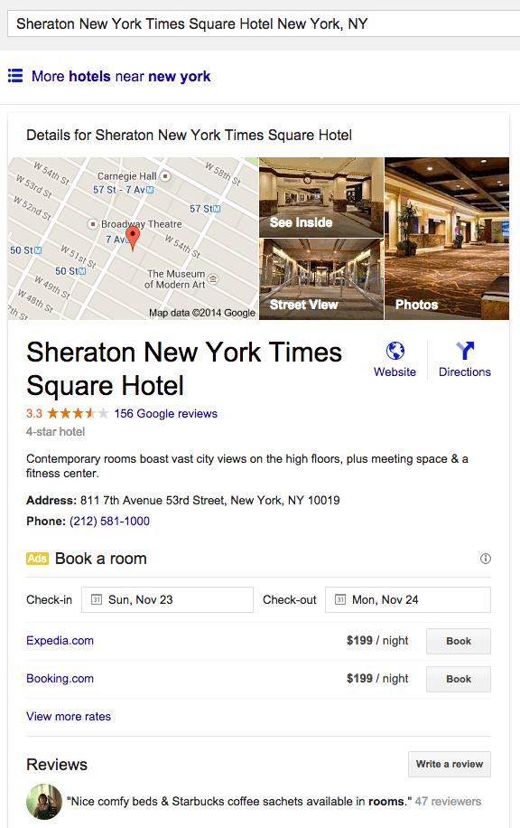 Google hotel