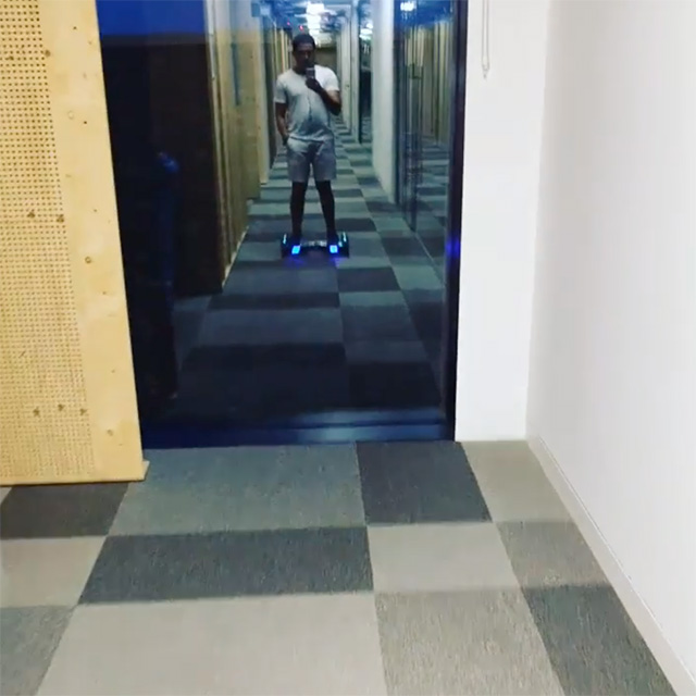 Hoverboarding At Google Office