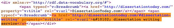 HTML code entities google sitelinks