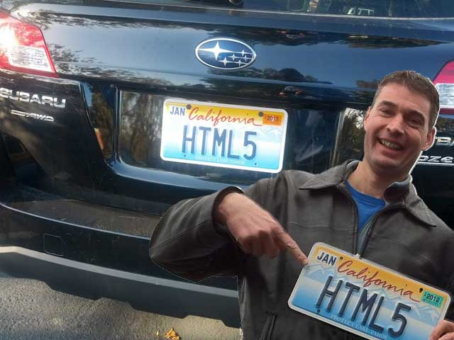 HTML5 License Plate