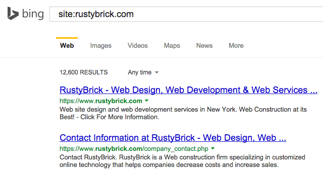 Bing HTTPS Results