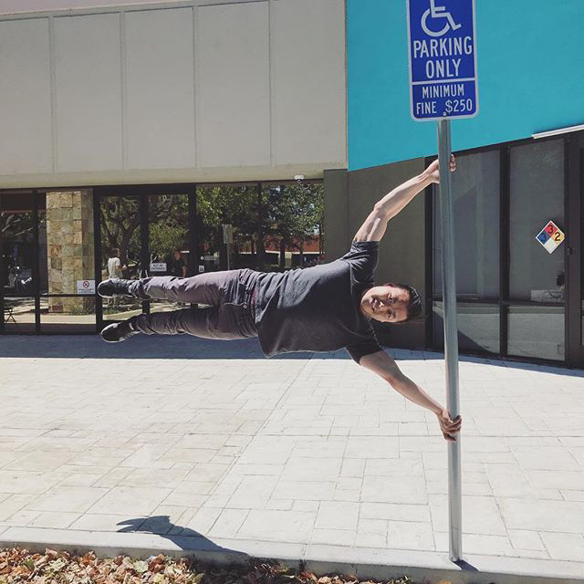 A Human Flag At Google Parking Lot
