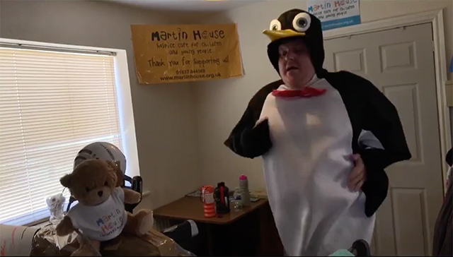 Penguin Man Running Half Marathon On Live Stream