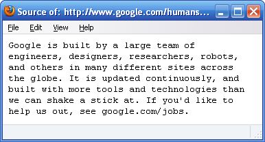 Google Human Text File