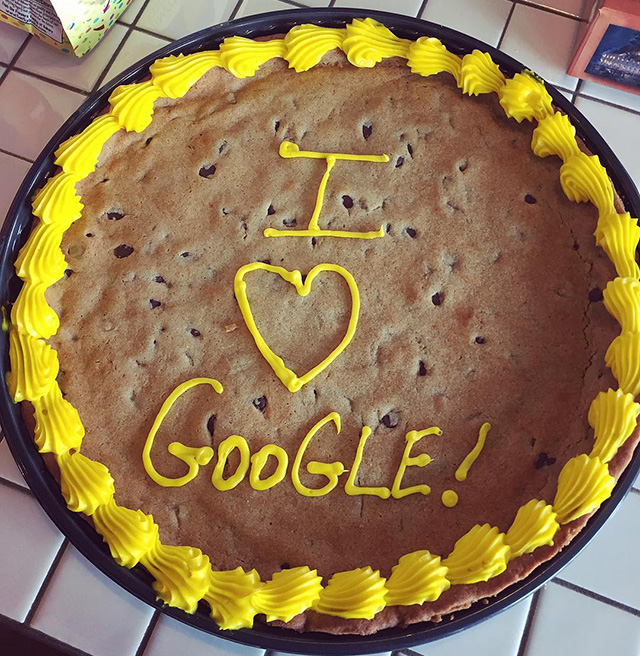 I Love Google Pie