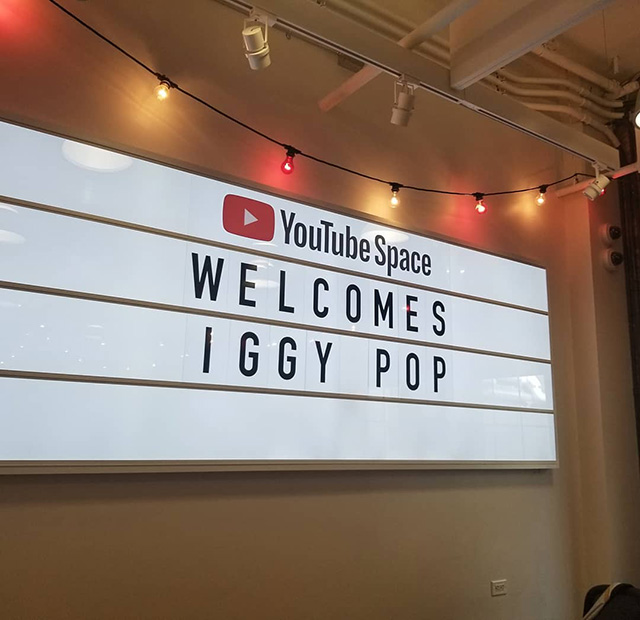 Iggy Pop Visits Google NYC YouTube Space
