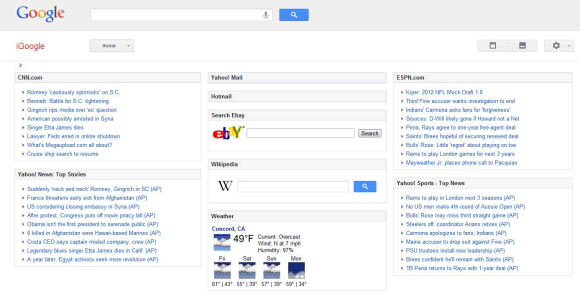 New iGoogle Layout