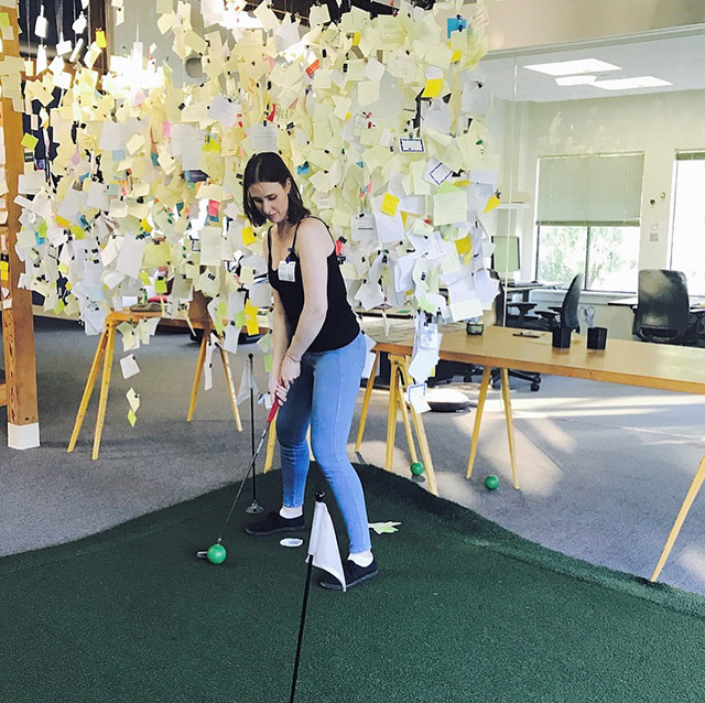 Indoor Google Golf Putting Green
