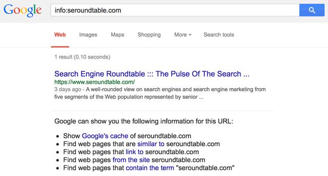 Google Info Command