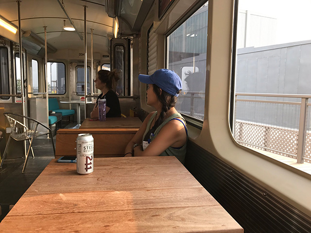 Inside The Google Chicago Subway Car