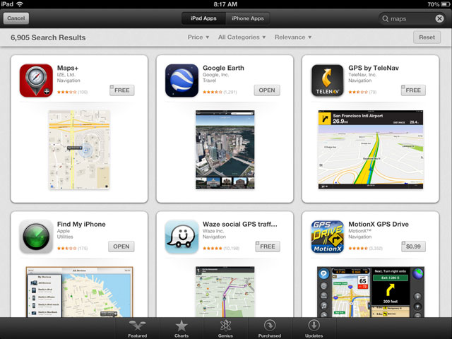 iOS 6 App Search