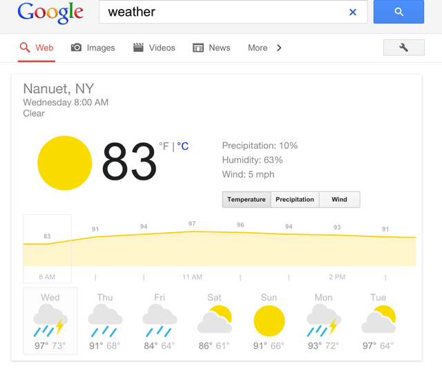 iPad Google Weather
