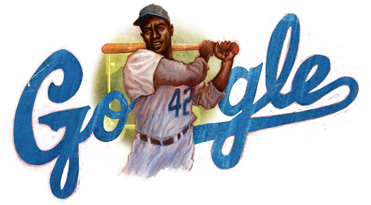 Jackie Robinson Google Logo