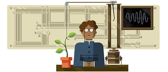 Jagdish Chandra Bose Google Logo