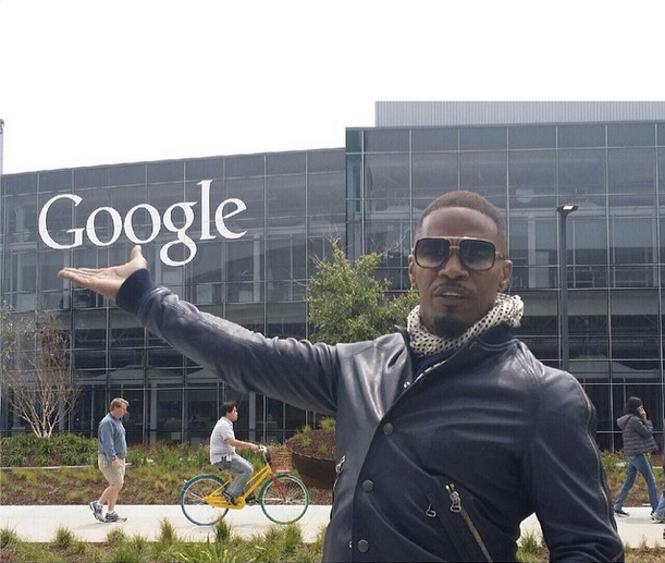 Jamie Foxx At The GooglePlex