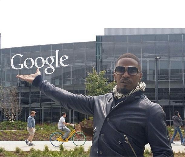 Jamie Foxx At The GooglePlex