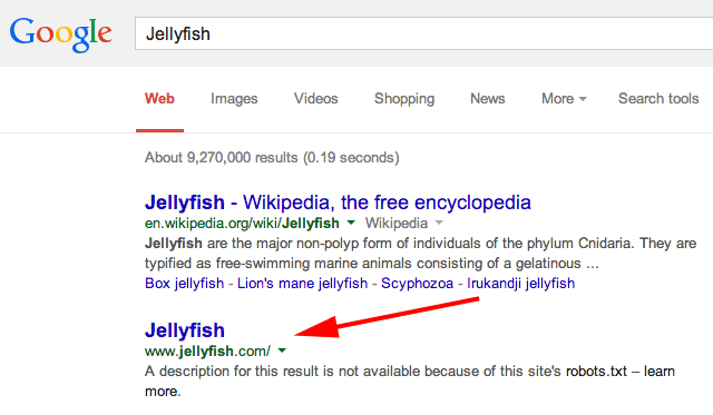 jellyfish google results