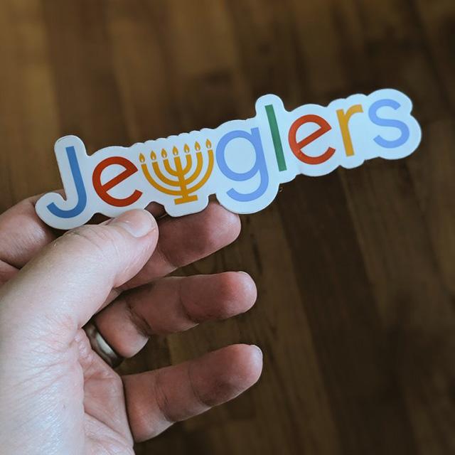 Google Jewglers Menorah Sticker