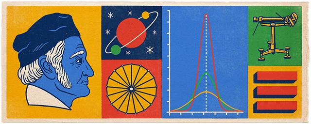 Google Doodle For Johann Carl Friedrich Gauss