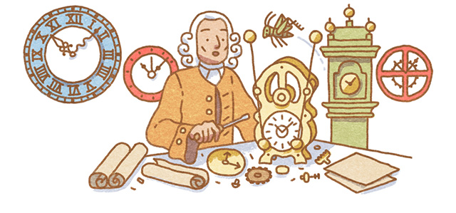 John Harrison Google Logo Depicts His Marine Chronometer
