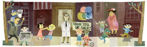 Google Jonas Salk Logo