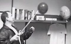 Google's Jonathan Rosenberg Popping Nooglers Smiley Balloons