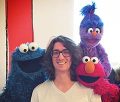 Google's Jonathan Terleski With Elmo, Cookie Monster & Other Sesame Street Muppets