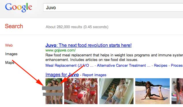 JUVO Nudity In Google