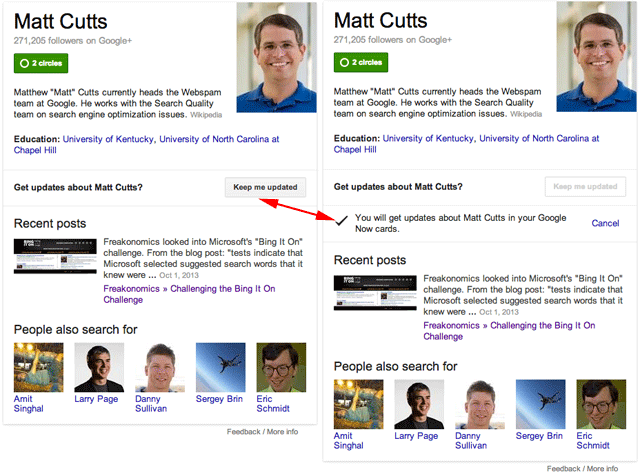 matt cutts Google Now