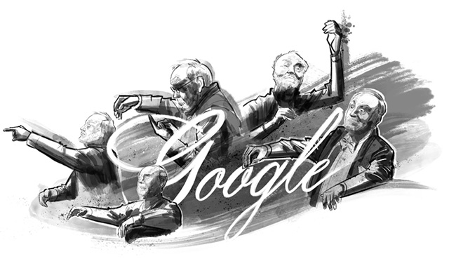 Google Logo For German Conductor Kurt Masur