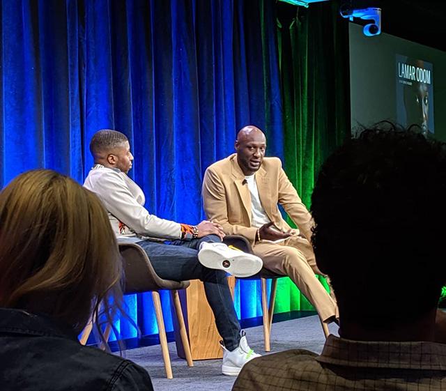 Lamar Odom Gives Google Talk