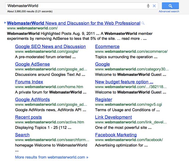 Google Sitelinks LArge