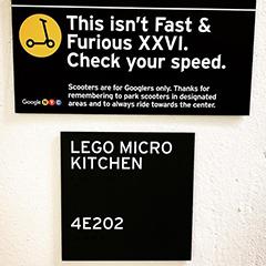 Google NYC LEGO Micro Kitchen Sign