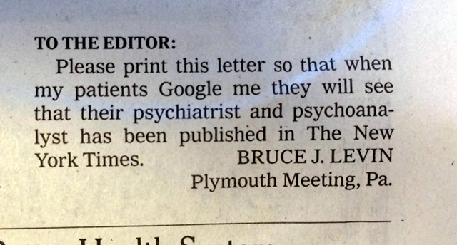 Google NY Times Letter
