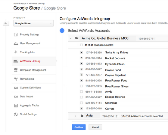 Google Analytics & AdWords Linking