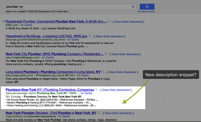 Google Listing Snippet