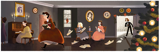 Louisa May Alcott Google Logo