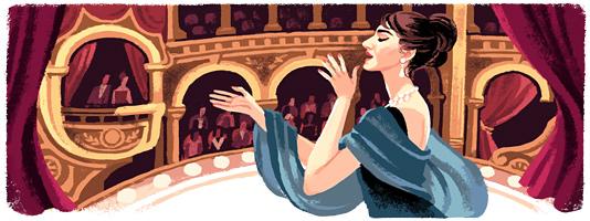 Maria Callas Google Doodle