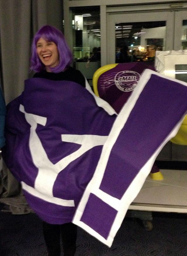 Marissa Mayer Yahoo Mascot