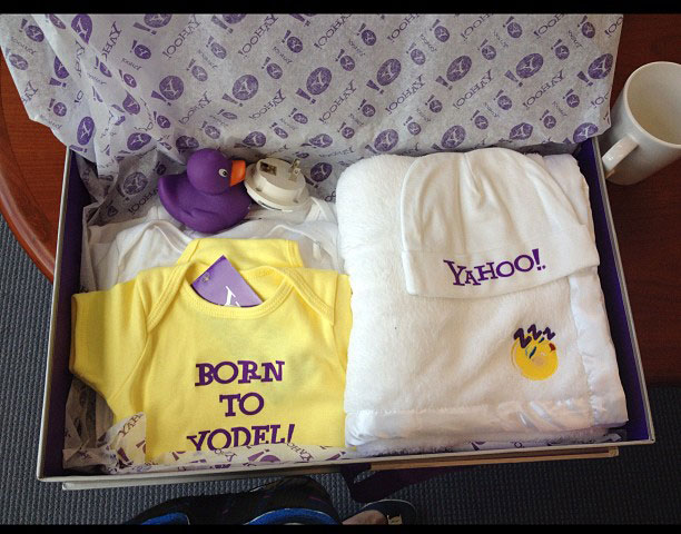 Marissa Mayer Gets Yahoo Layette Set