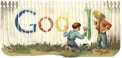 Google Mark Twain Logo